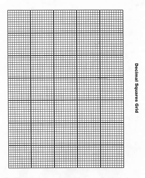 picture relating to Hundredths Grid Printable identified as Decimal Squares Grid Decimal Squares